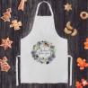 FARTUCH kuchenny na Prezent dla Babci Z IMIENIEM Fioletowe Kwiaty