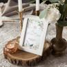 DEKORACJA stołu na Komunię Pudrowe Kwiaty (+ramka)