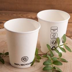 KUBECZKI papierowe białe EKO 6szt 100% recykling