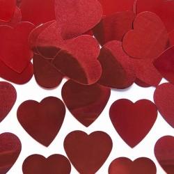 KONFETTI czerwone Serca Duże