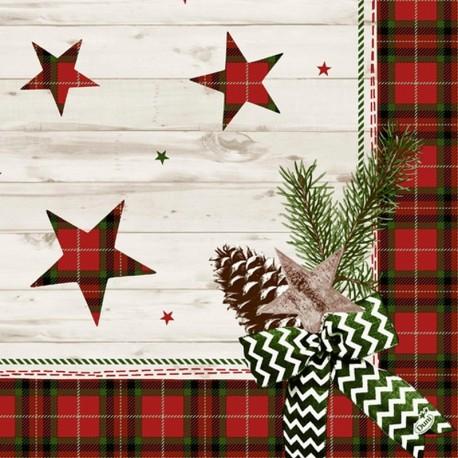 SERWETKI flizelinowe Naturally Christmas 40x40cm 250szt