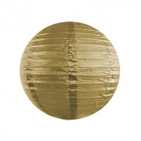 LAMPION papierowy metaliczny 25cm ZŁOTY