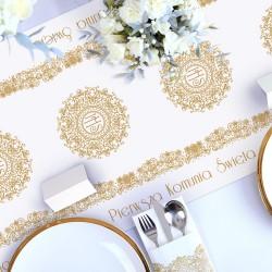 BIEŻNIK dekoracja komunijna stołu IHS Exclusive 40cmx10m