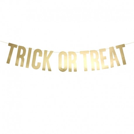 BANER Trick or Treat Złoty 80cm