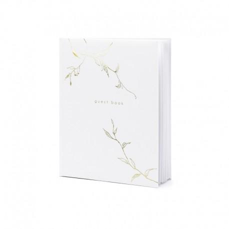 KSIĘGA GOŚCI RESTAURACJI Guest book 20x24,5cm 22 kartki BIAŁA