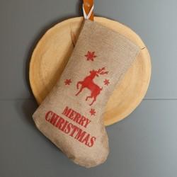 SKARPETA na prezent świąteczny RENIFER