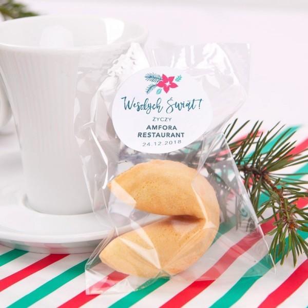 Ciasteczko świąteczne z logo firmy
