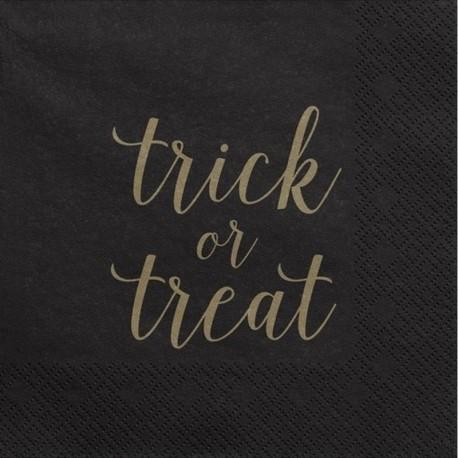 SERWETKI papierowe Trick or treat Czarne 33x33cm 20szt