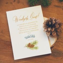 OPŁATEK z życzeniami świątecznymi firmowy Woodland Z LOGO