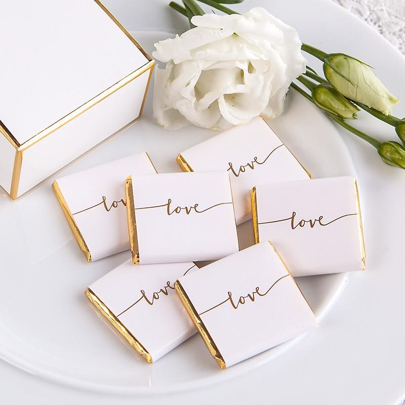 czekoladka ślubna z napisem love