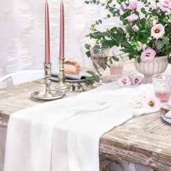 BIEŻNIK muślinowy na stół weselny 0,7x5m