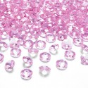 DIAMENCIKI ozdobne na stoły 100szt JASNORÓŻOWY