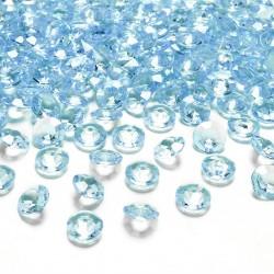 DIAMENCIKI ozdobne na stoły 100szt BŁĘKITNE