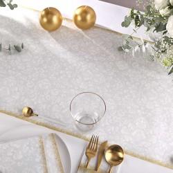 BIEŻNIK obrus flizelinowy Srebrno-Złoty Rococo 40cmx24m