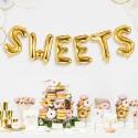 BALON foliowy do słodkiego barku złoty 35cm SWEETS