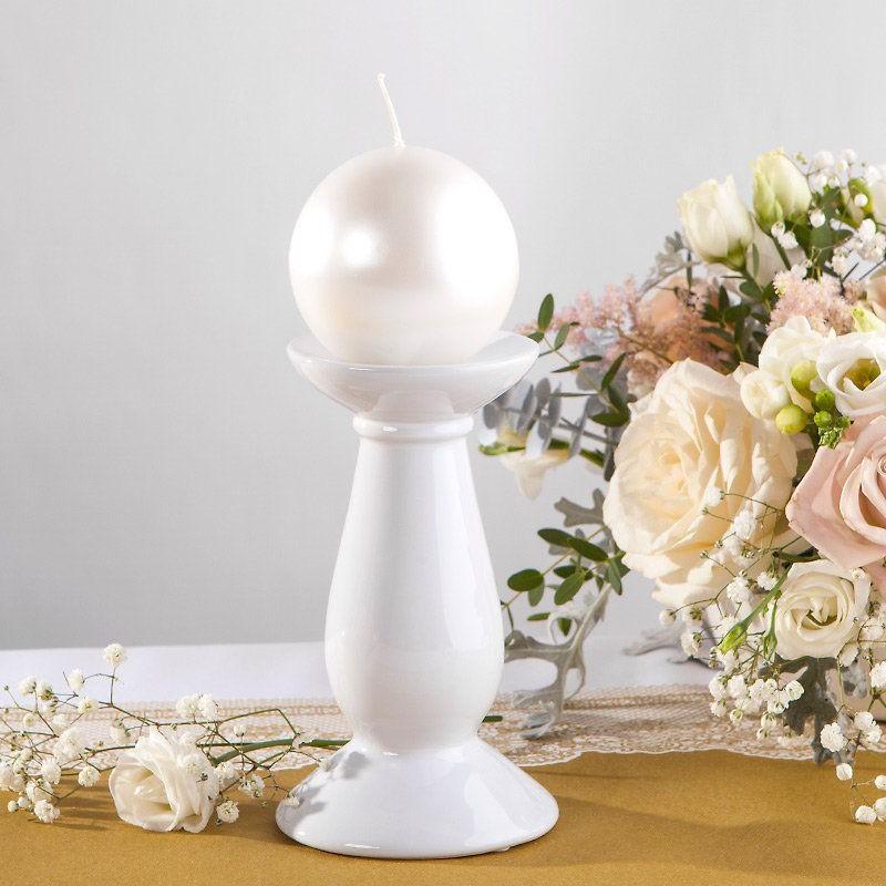 Świecznik porcelanowy