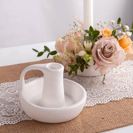 ŚWIECZNIK podstawka na kwiaty do własnej aranżacji 8cm
