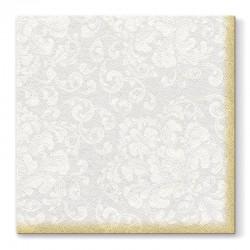 SERWETKI flizelinowe Srebrno-Złote Rococo 40x40cm 50szt