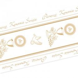 BIEŻNIK obrus dekoracja komunijna stołu Złoty Kielich 40cmx10m