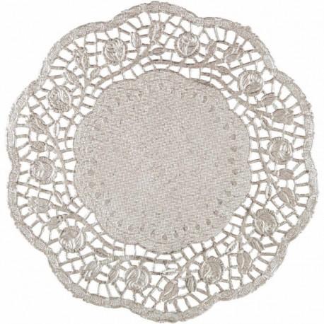 PODKŁADKI pod ciasto/talerze SREBRNE Ø36cm 100szt