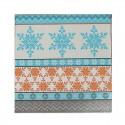 SERWETKI papierowe Colourfull Snowflakes 33x33cm 20szt