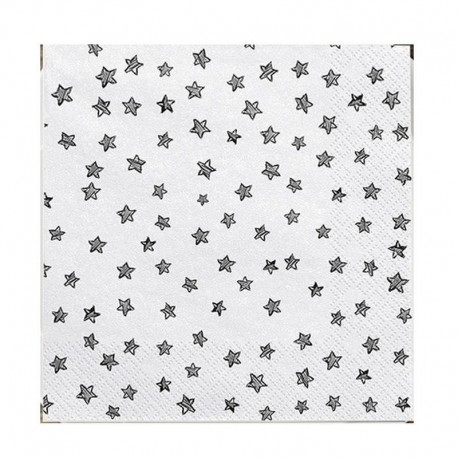 SERWETKI Black Stars 33x33cm 20szt