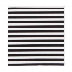 SERWETKI czarno-białe paski 33x33cm 20szt