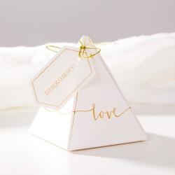 PUDEŁECZKA podziękowanie piramidki Love 10szt