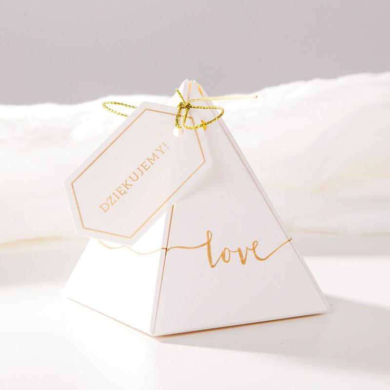 Pudełeczka piramidki na podziękowanie dla gości