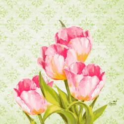 SERWETKI papierowe Love Tulips 33x33cm 500szt