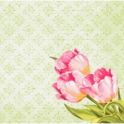 SERWETKI flizelinowe Love Tulips 40x40cm 360szt