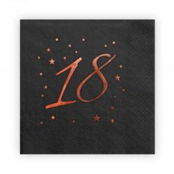 SERWETKI papierowe na 18 Rosegold Black 33x33 20szt