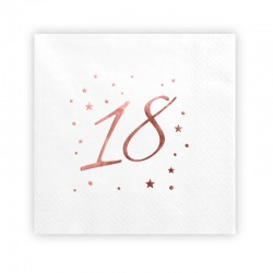 SERWETKI papierowe z napisem Rosegold na 18 33x33 20szt