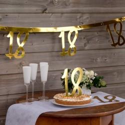 BANER girlanda 18 urodziny metaliczne złoto 2,5m