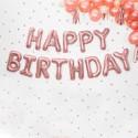 BALON foliowy Happy Birthday ROSEGOLD 340x35cm