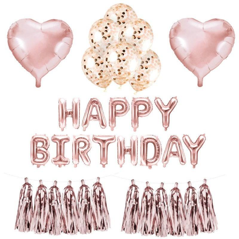 Zestaw dekoracji urodzinowych dla dziewczynki