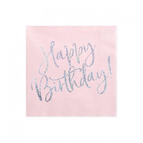 SERWETKI urodzinowe Happy Birthday HOLO 33x33cm 20szt
