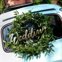 NAPIS dekoracyjny Wedding 45cm ZŁOTY