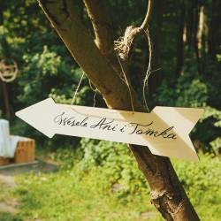 STRZAŁKA z drewna NA NAPIS (+sznurek)