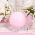 ŚWIECA kula lakierowana 8cm Różowa