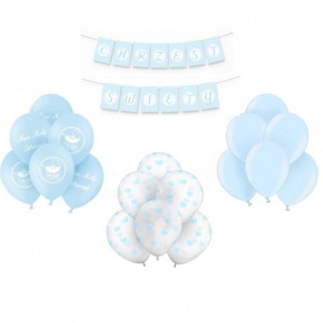 ZESTAW balonów na Chrzest BŁĘKITNY -20%