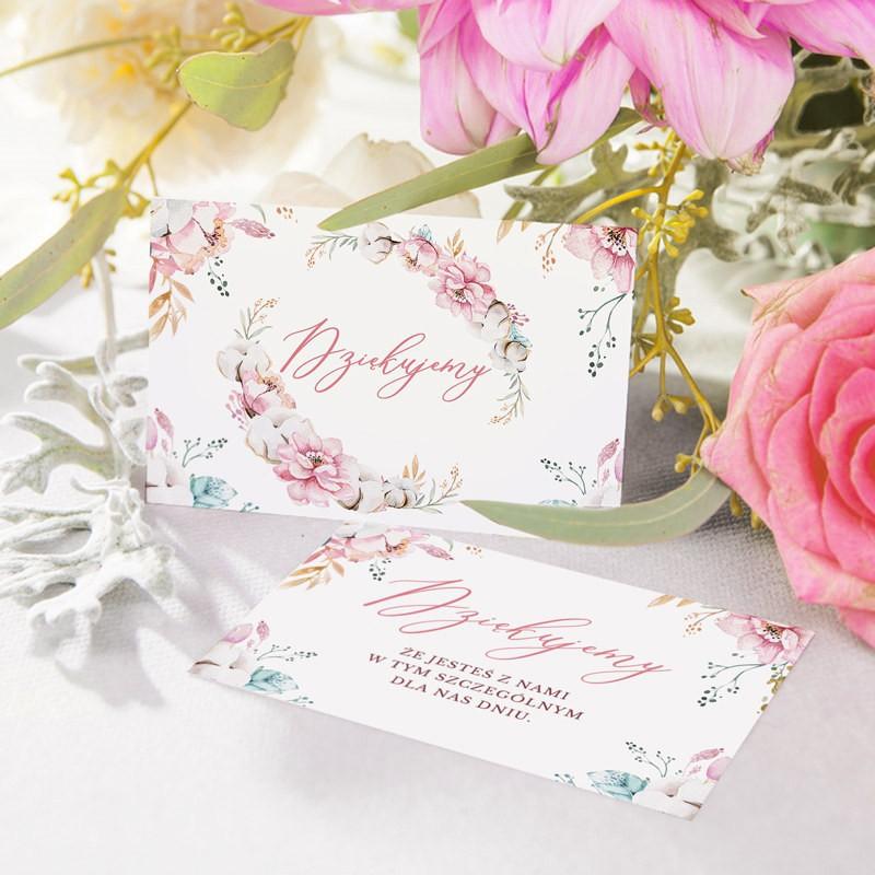 bileciki komunijne dla dziewczynki z kwiatami