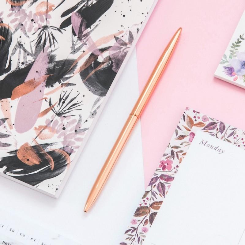 Elegancki długopis w kolorze rosegold do zaproszeń