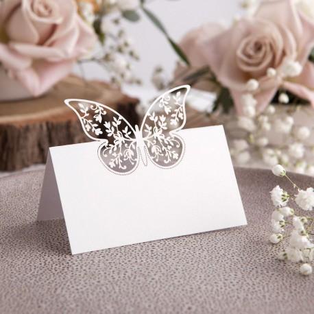 WINIETKI komunijne Motyl w kwiatach 10szt