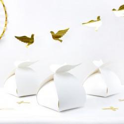 PUDEŁKA na ciasto słodycze na Chrzest i Komunię ze skrzydłami 10szt