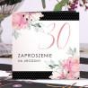 ZAPROSZENIA na 30 urodziny Kwiatowe Groszki 10szt (+koperty)