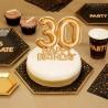 TOPPER na tort na 30 urodziny GLAMOUR Złoty