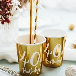 KUBECZKI na 40 urodziny Złote 6szt