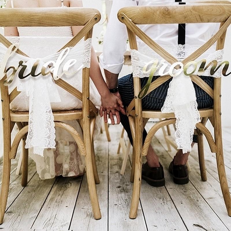Zawieszki na krzesła weselna