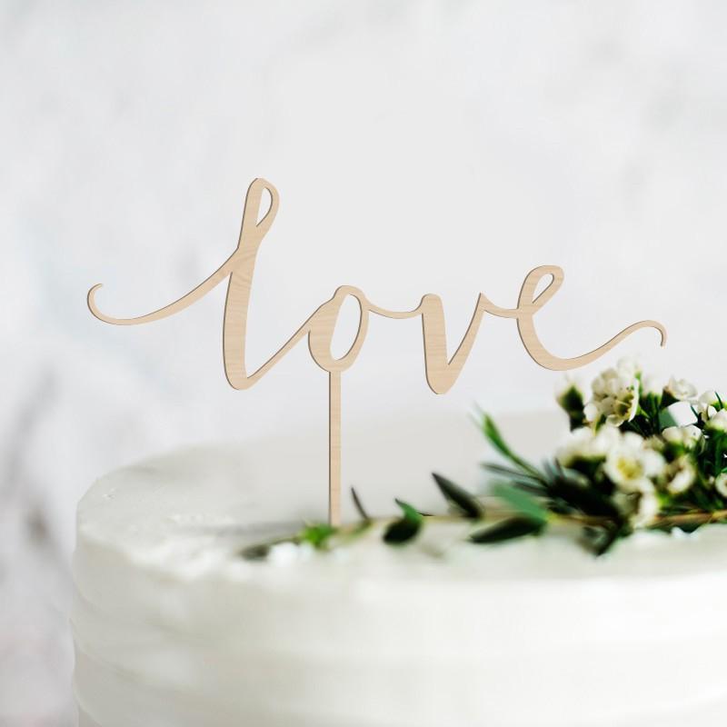 topper na tort z napisem love